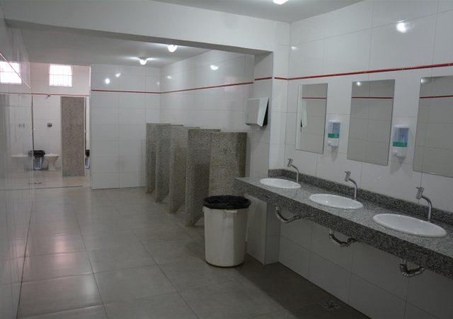 Antigos banheiros do Salão Social passam por ampla reforma e modernização
