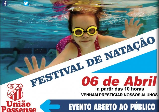 Festival de Natação do UPFC acontece neste sábado, 6 de abril